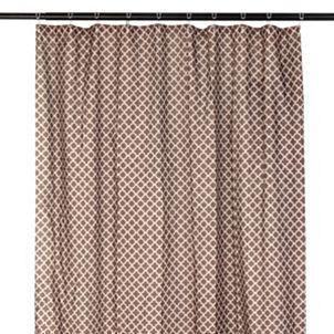 Chocolate Brown Quatrefoil Print Shower Curtain Cute Shower