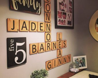 Gallery Wall Package Scrabble Style Wall Letter Tiles