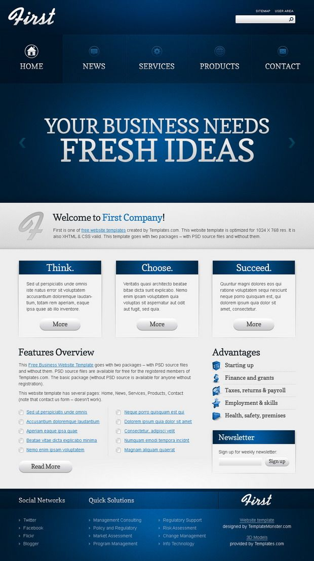Free website template efficient start of your business business free business website template fbccfo Images