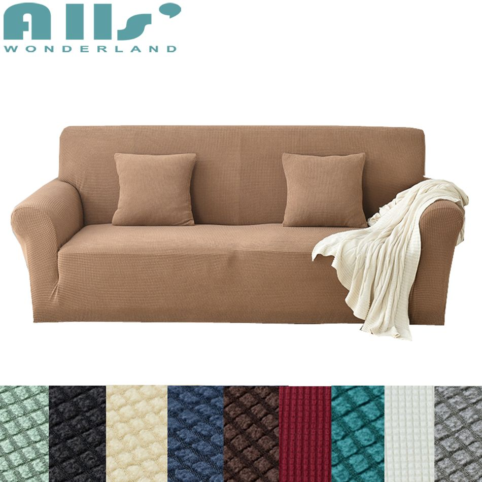 Stretch furniture covers for sofas brief style solid color home stretch furniture high quality modern design couch protector sliprcover sofacover