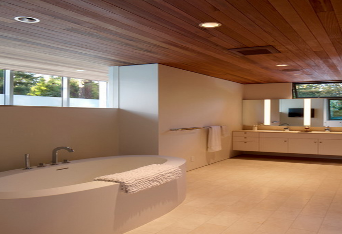 Cedar Wood Bathroom Ceiling Wooden Home Modern