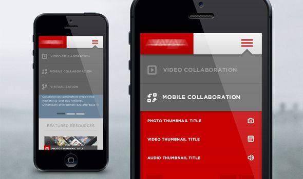 40 Unique Mobile Navigation User Interfaces Ux Interface Design Mobile Web Design Mobile App Design
