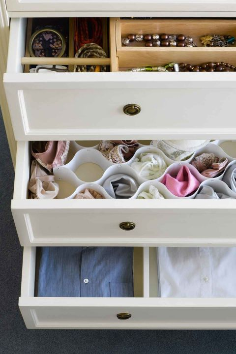 ... Underwear, And Socks From Becoming A Jumbled Mess By Adding  Honeycomb Style Organizers. Click Through To Find More Easy DIY Bedroom  Organization Ideas.