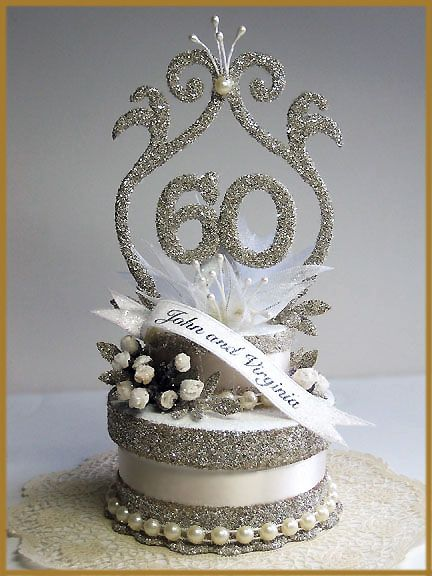 60th wedding anniversary cake topper image for 60th wedding anniversary decoration ideas