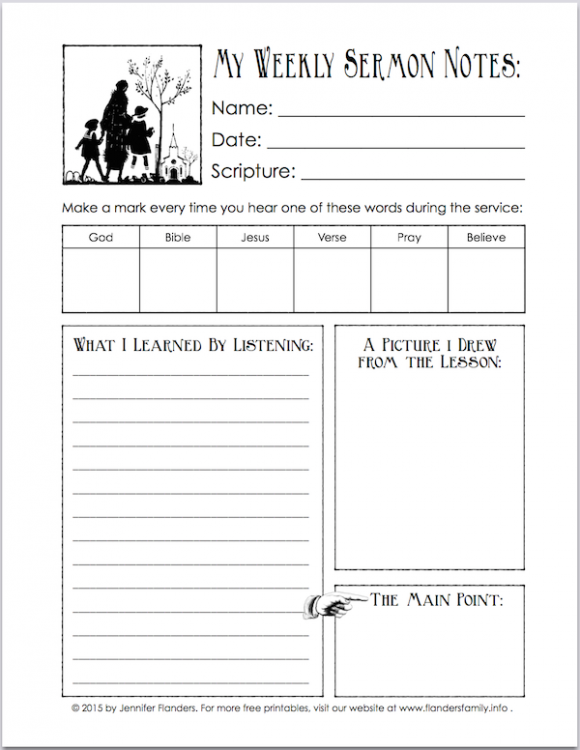Worksheets Sermon Preparation Worksheet k i s kids involved in studying scripture worship notes free printable sermon sheet for children