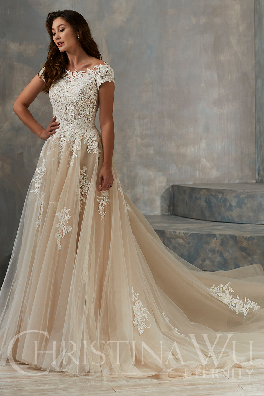 Fantasy Bridal Wedding Dress Store In Salt Lake City Utah Lace A Line Modest Wedding Dress Wedding Dress Store Wedding Dresses Lace Bridal Wedding Dresses [ 1343 x 895 Pixel ]