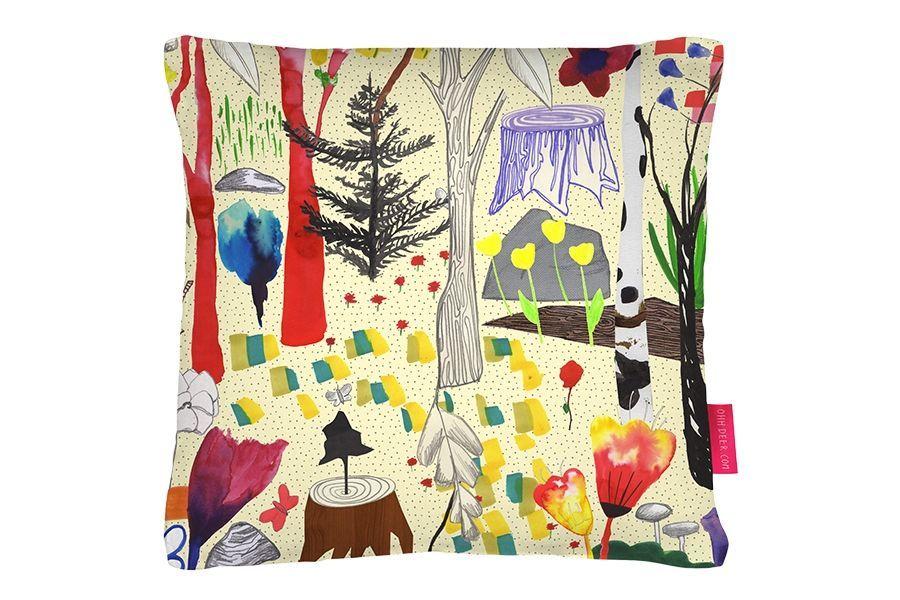 home --\u003e Sandra Dieckmann Magical Wood Kissen - Möbel / Accessoires