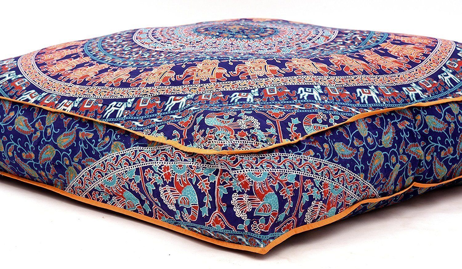 Krati Exports Indian Floor Pillow Cushion Covers In Mandala Design