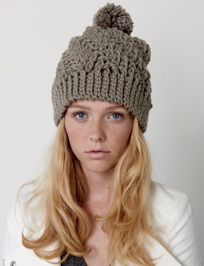 Stepping Texture Hat - Patterns | Yarnspirations | Highly textured ...