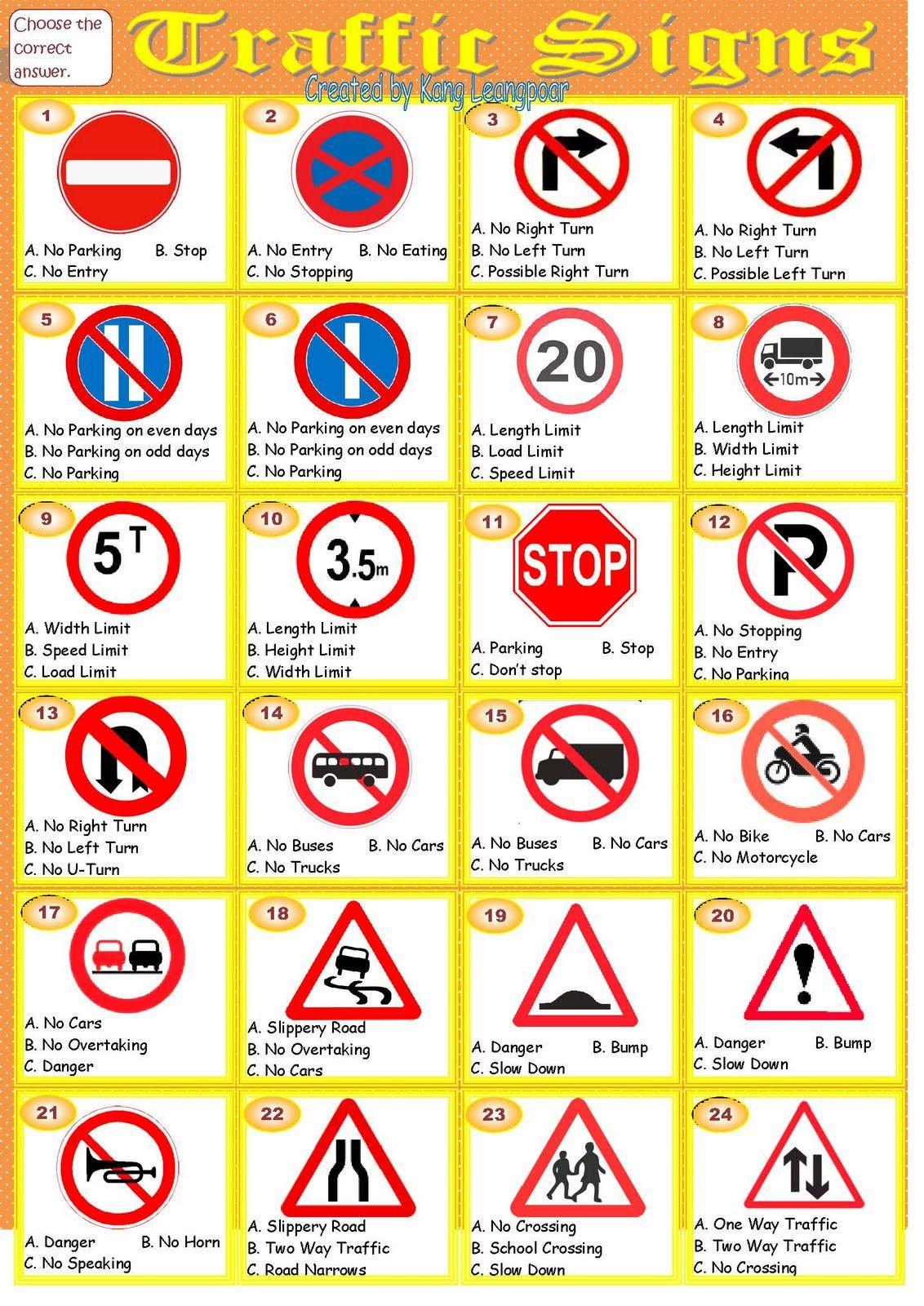 Free Printable Safety Signs Worksheets Worksheets Traffic