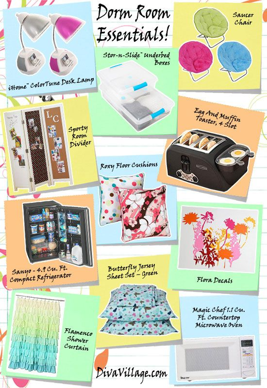 Essentials for your dorm room. | I Love College! | Pinterest ...