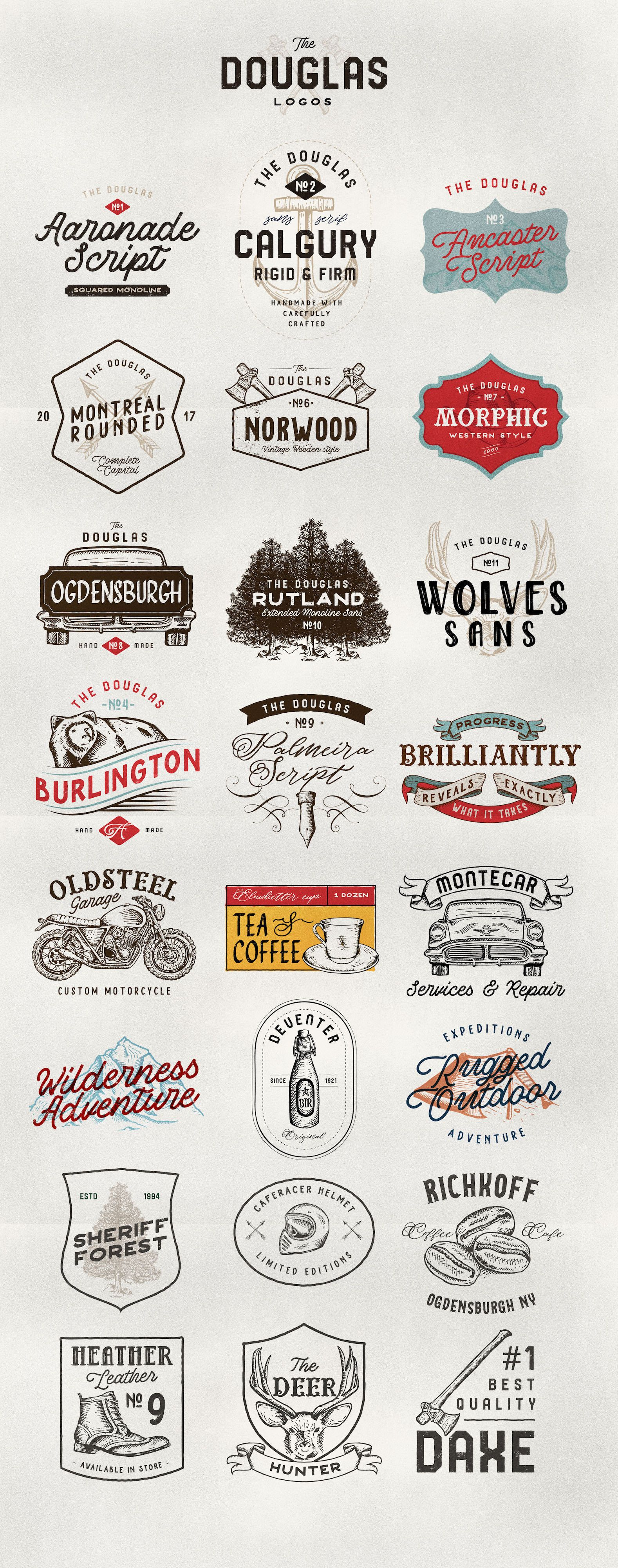 Download Douglas Collections | Vintage graphic design, Text logo ...