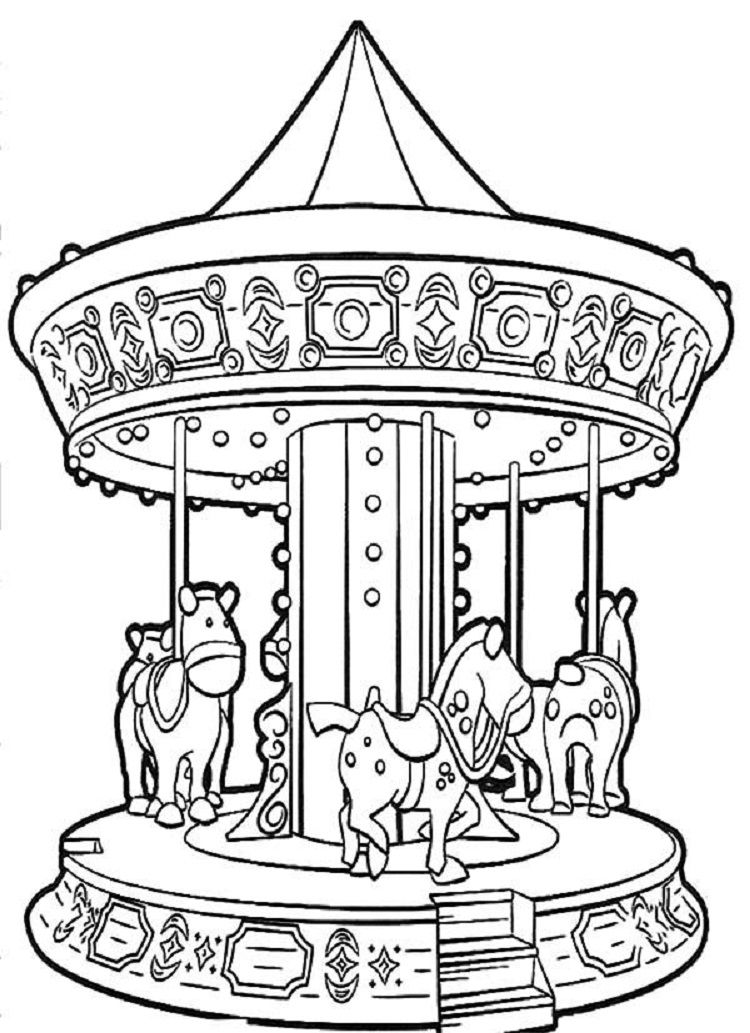 Carousels Carnival Coloring Pages