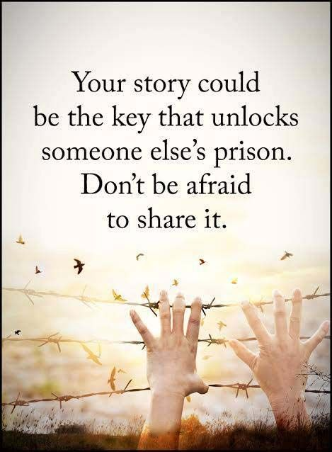Your Story Could Be The Key...PosterMotivationalInspirationalArt