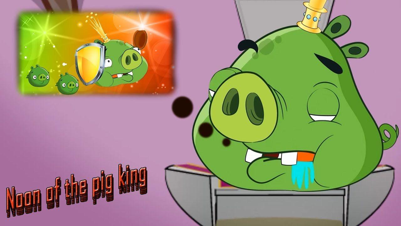 angry birds cartoon noon of the pig king yellow bird cartoon