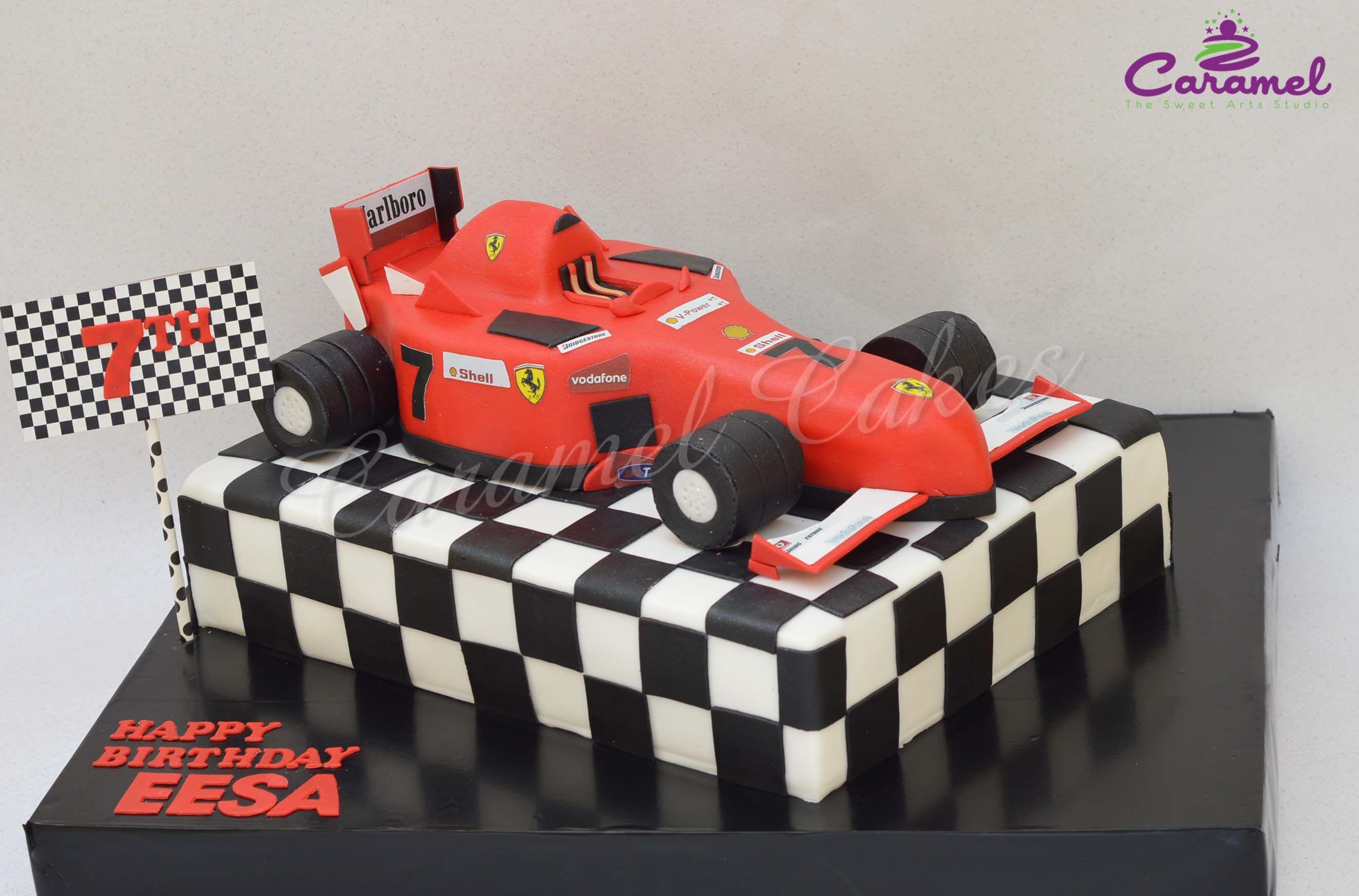 Ferrari themed cake by caramel doha qatar customized birthday cake baditri Gallery