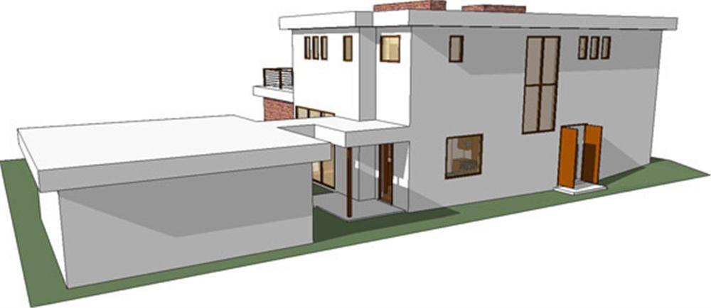 Vista posterior casa moderna 7 planos de casas pinterest - Planos casas modernas ...