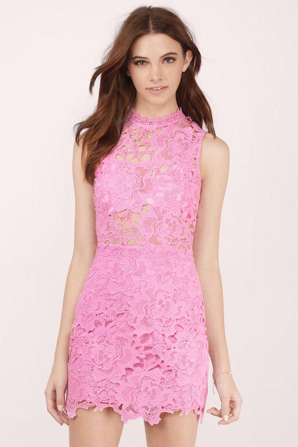 Sweet Fantasy Lace Bodycon Dress at Tobi.com #shoptobi | I Love Pink ...
