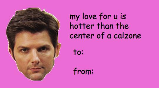 Parks Rec Tumblr V Day Cards Just For You Imgur Valentines Memes Meme Valentines Cards Funny Valentine Memes