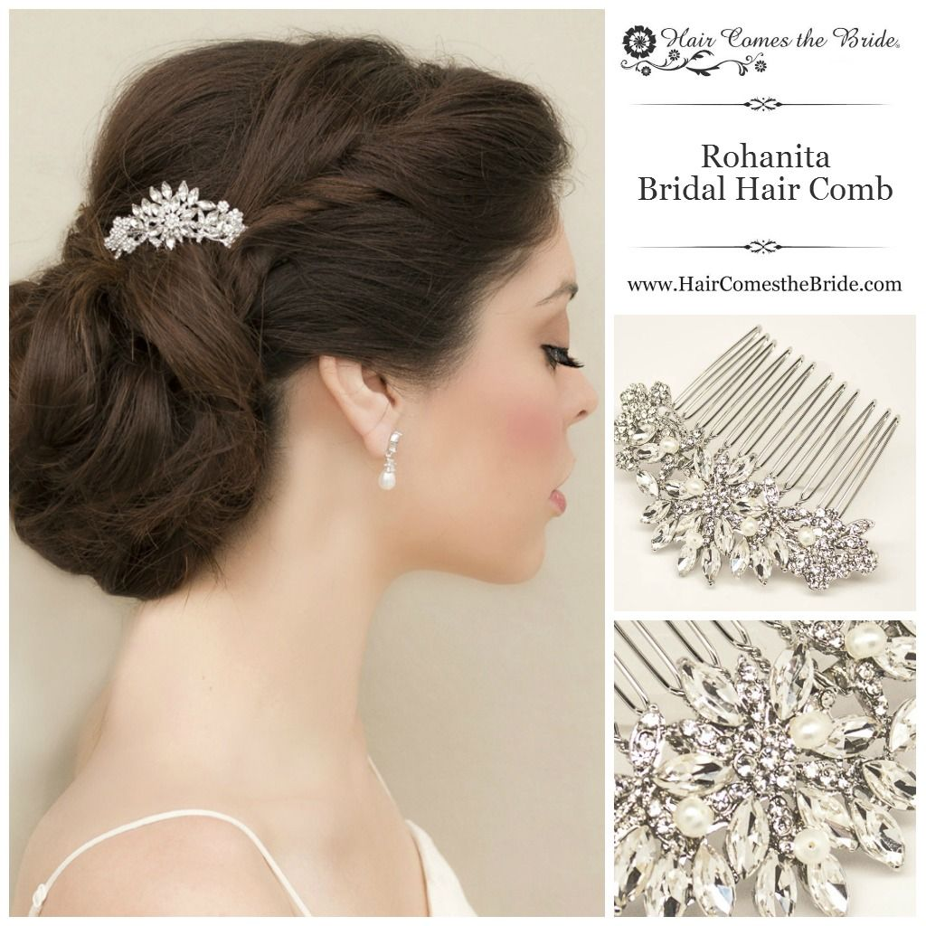 "rohanita"" petite rhinestone comb | wedding look | wedding"