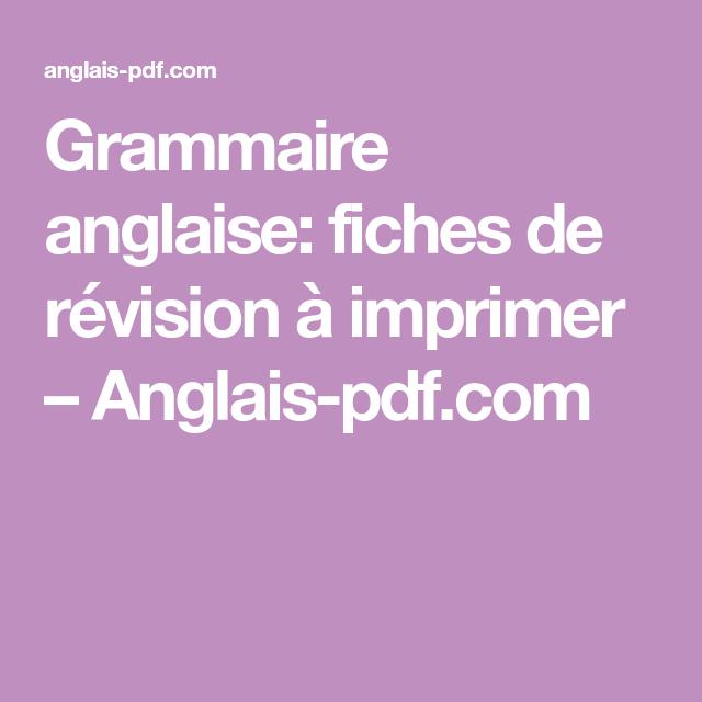 Grammaire anglaise PDF cours gratuits t l charger