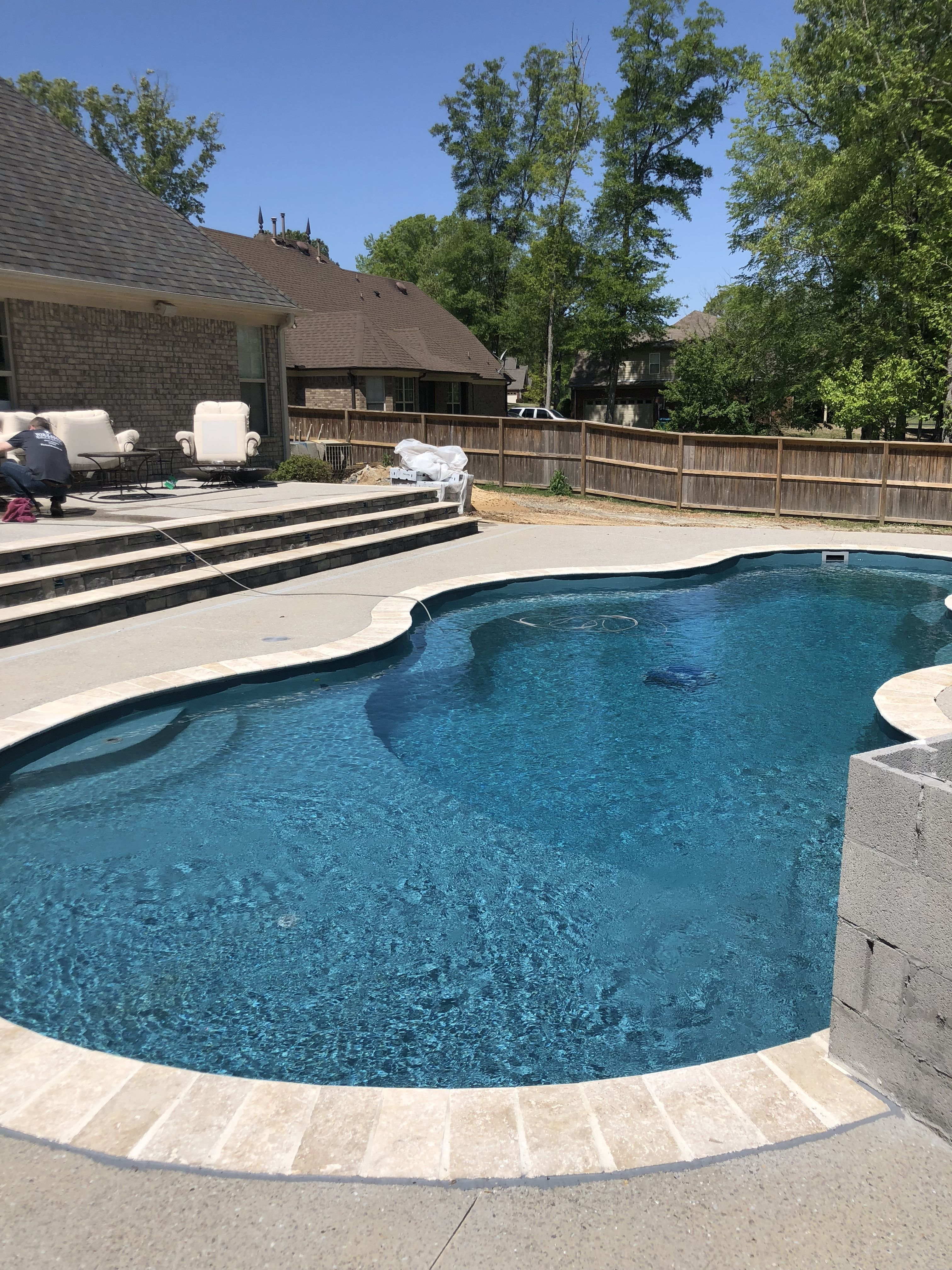 Outdoor Oasis, Trilogy Axiom Fiberglass pool, Stel in 30