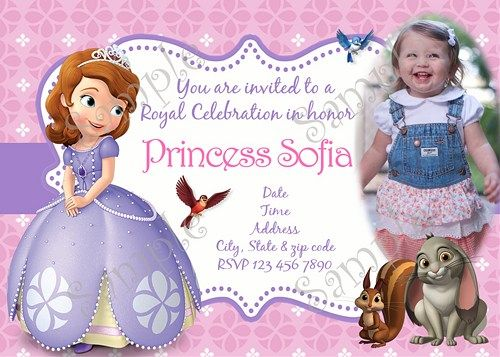 Sofia the first birthday party invitation princess sofia the first sofia the first sofia the first birthday party invitation sofia the first birthday stopboris Image collections