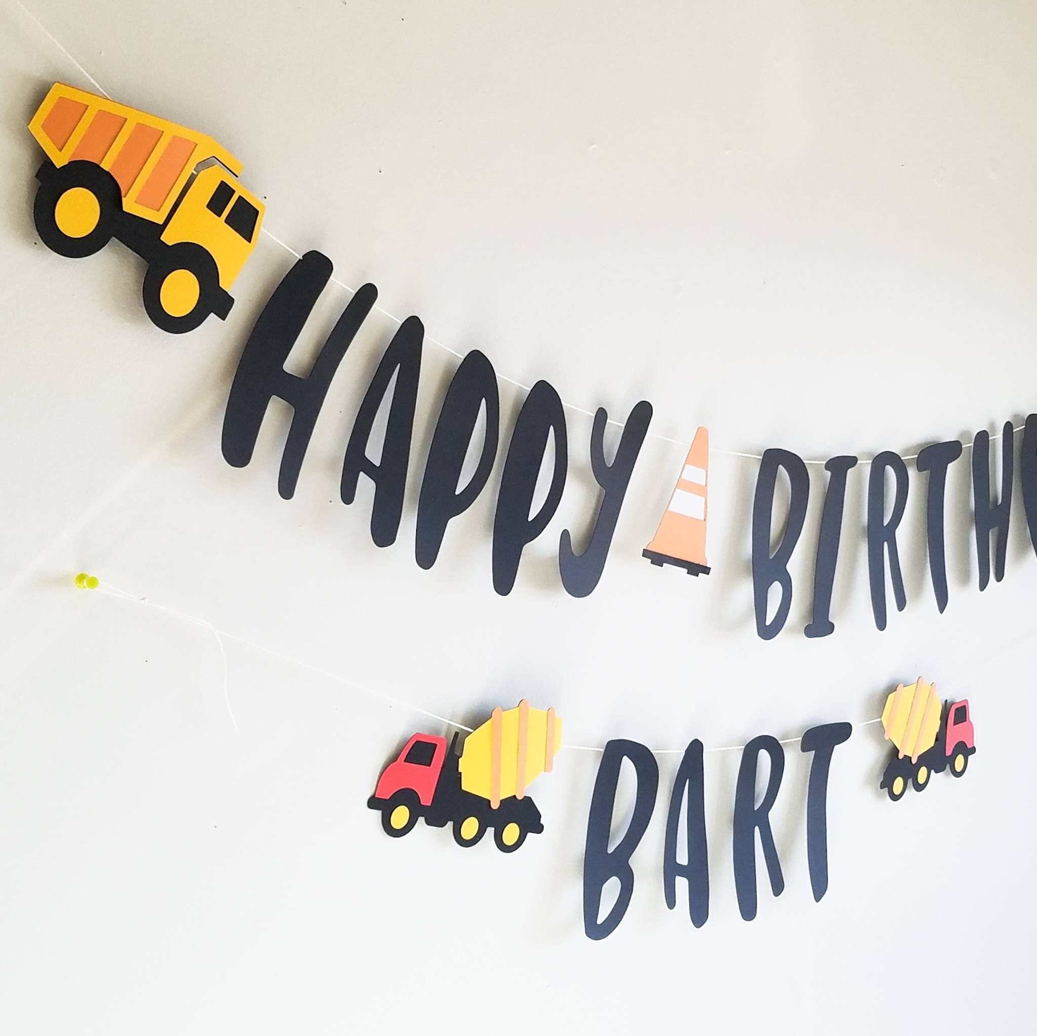 Construction birthday banner construction party banner