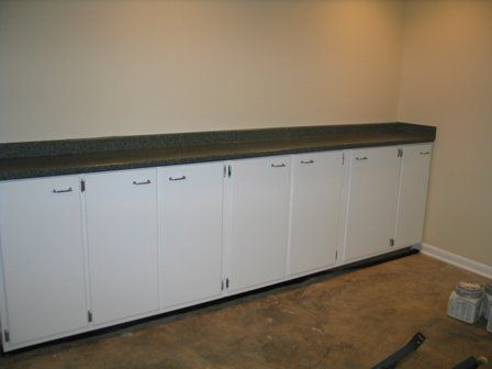 using kitchen cabinets in garage kitchen cabinets find new use in garage oh yea the 8797