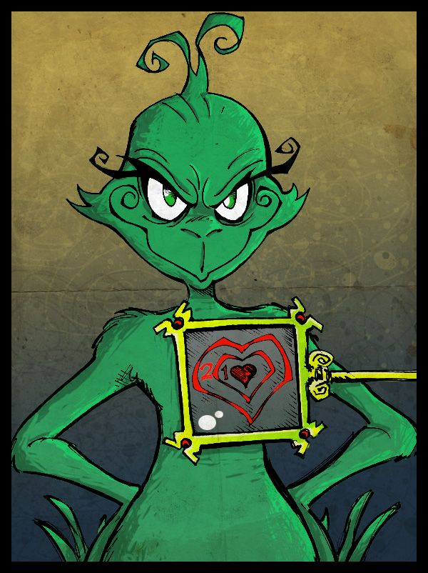 f016174666c60 M.I.A The Grinch by kraola on deviantART...Real art...and the grinch s  heart grew 3 sizes that day!!!