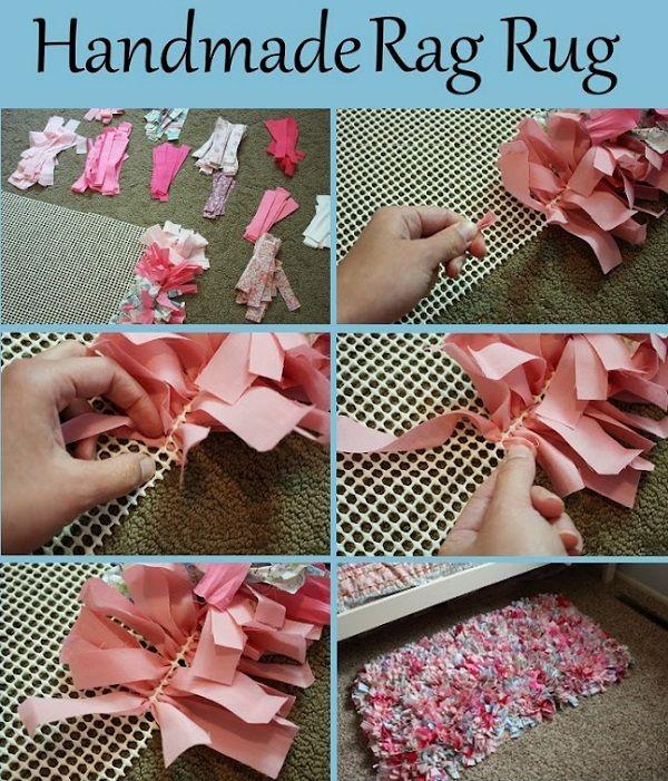 Handmade Rag Rug Tutorial Deko Bastelarbeiten Diy