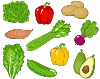 vegetables clip art cute veggies digital clipart corn pumpkin rh pinterest com fruit and veggie clipart fruit and vegetable clip art pictures