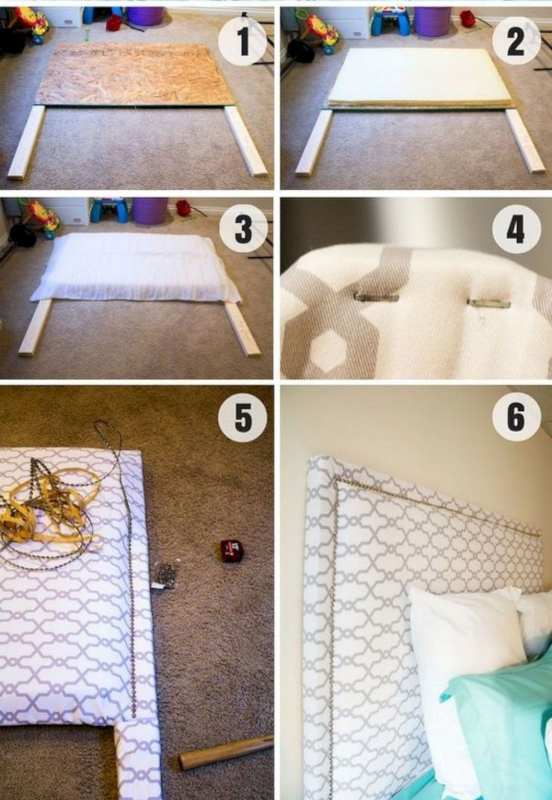 15 Easy DIY Headboard Project Ideas