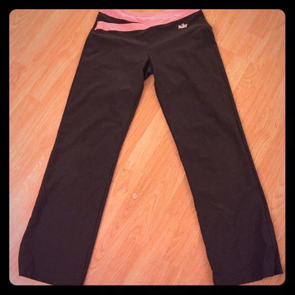 Nike Yoga pants Brown & pink yoga pants - lightweight and cozy Nike Pants Track Pants & Joggers