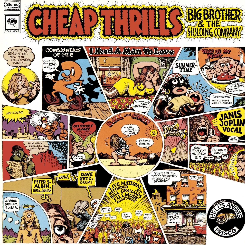 "/""Cheap Thrills/""  Janis Joplin ..Classic Retro Album Cover Poster Various Sizes"