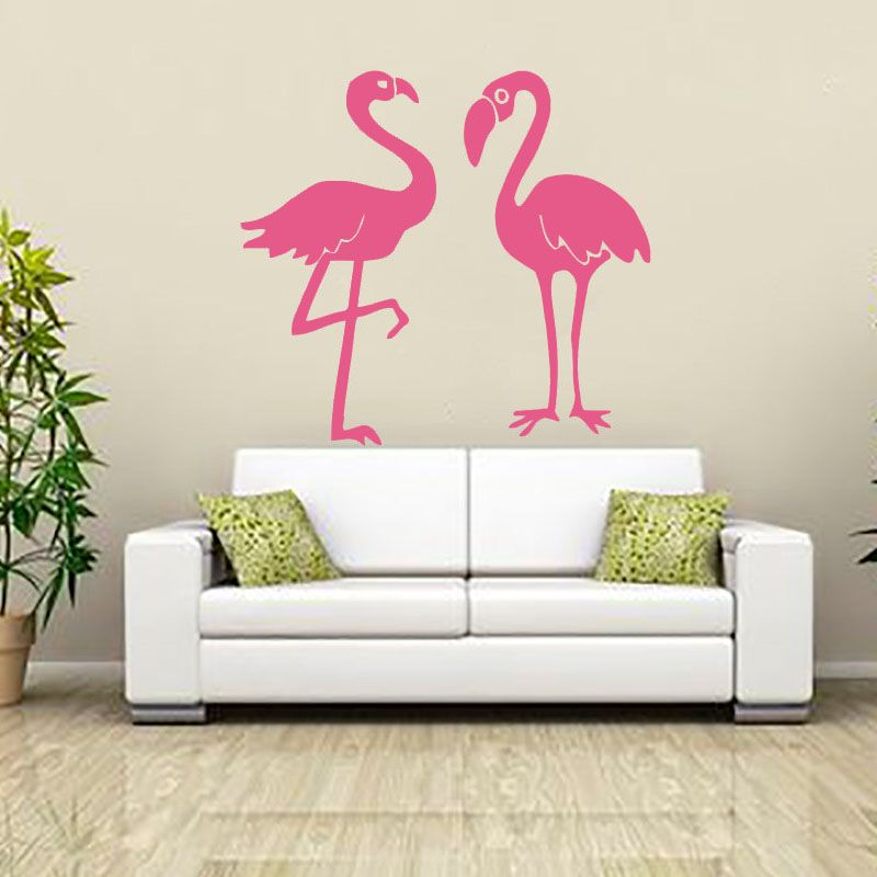Flamingo Wall Sticker Vinyl Adhesive Home Decor Living Room Waterproof  Kitchen DIY Wall Decal New Design Part 96
