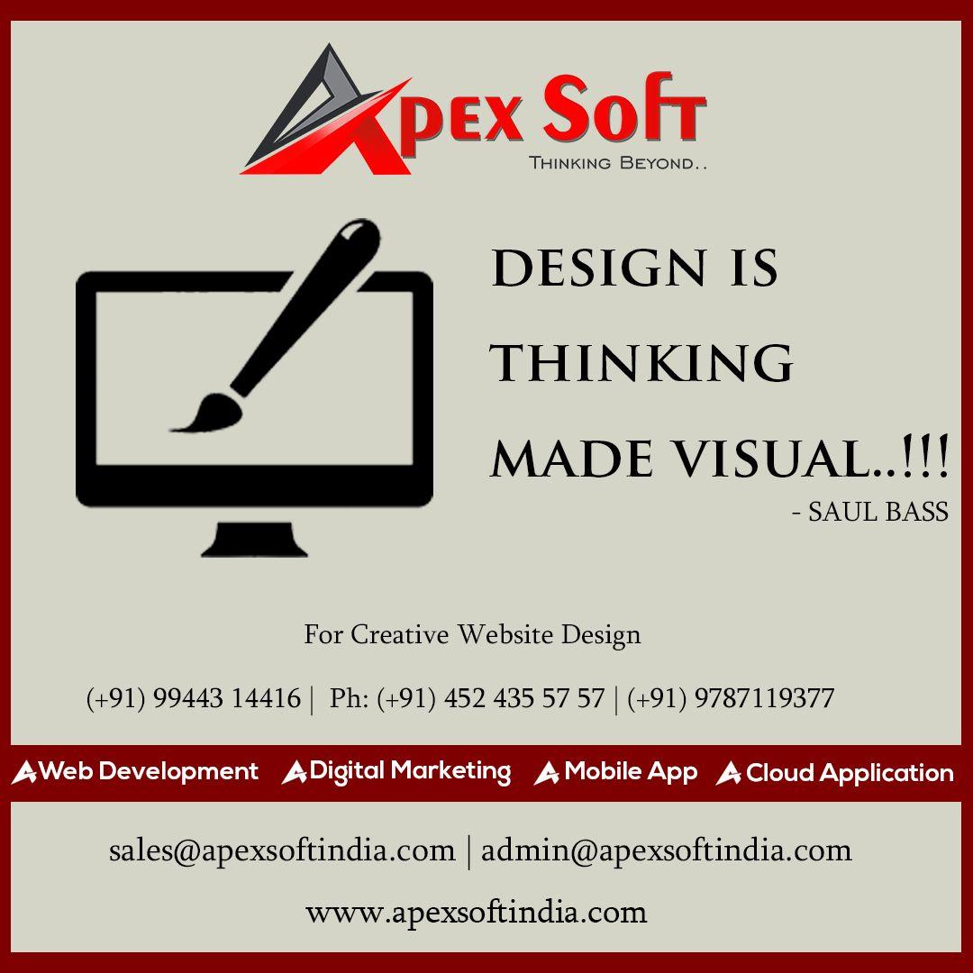 Apexsoft A Proven Creative Web Design Service Provider Our Design Will Speak Of Your Brand And Thus Will Establish An Development Web Development Web Design