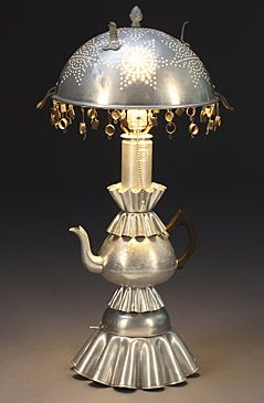 My favorite colander lamp, belonged to the Osbourne's