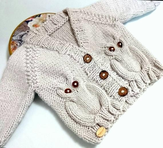 Photo of Owl baby sweater, baby boy cardigan, toddler sweater, toddler gift, knit baby sweater, knit sweater, gender neutral, sweater cardigan