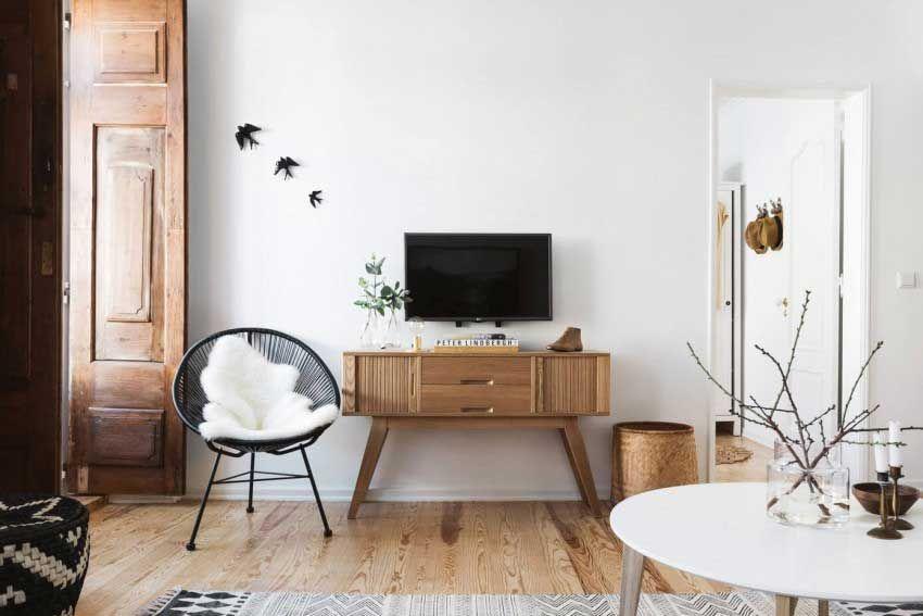 comment cr er un salon gris et bois clair pour une atmosph re apais e pinterest salon blanc. Black Bedroom Furniture Sets. Home Design Ideas