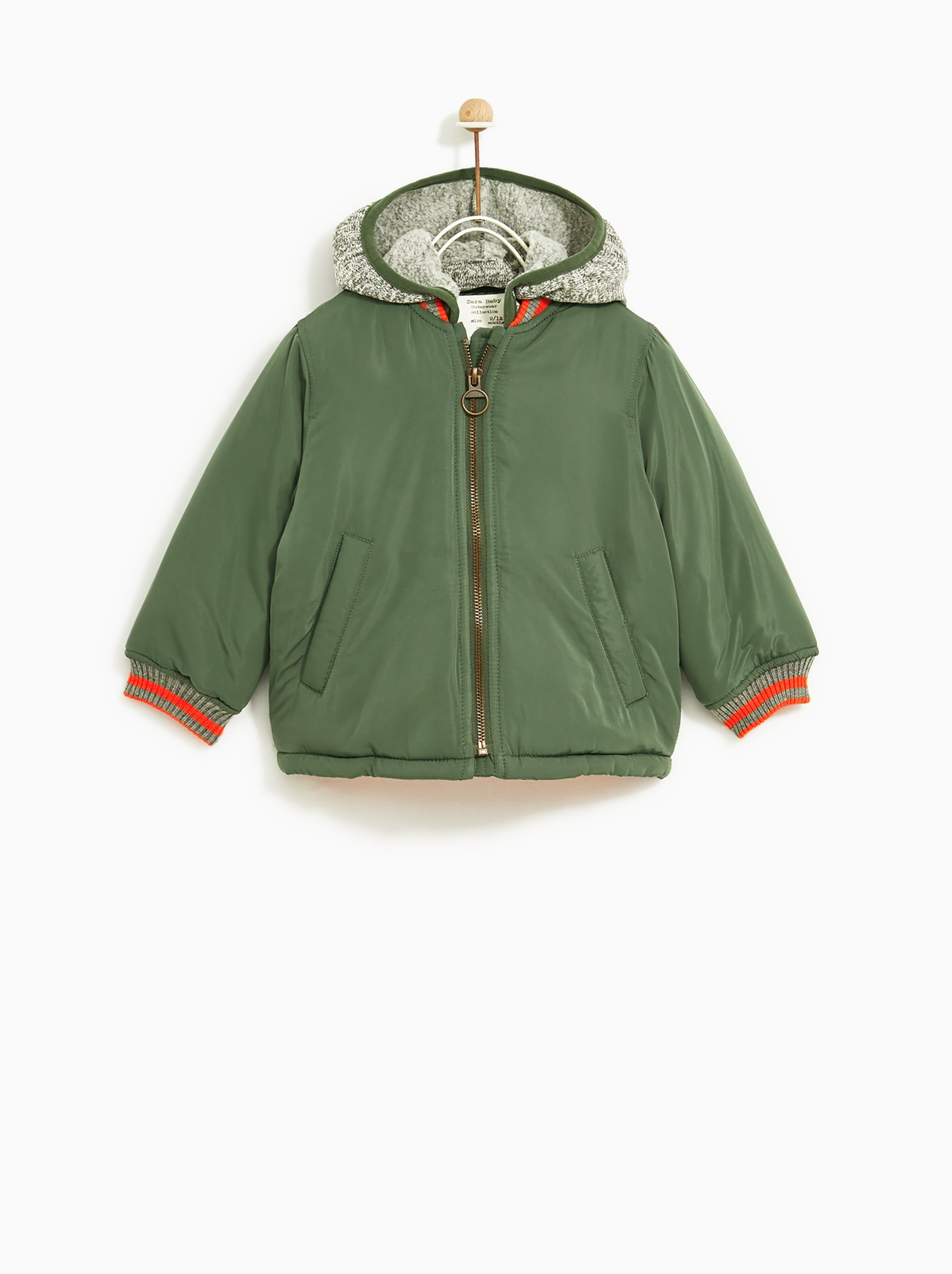 20fa264ad Image 1 of BOMBER JACKET WITH REMOVABLE HOOD from Zara