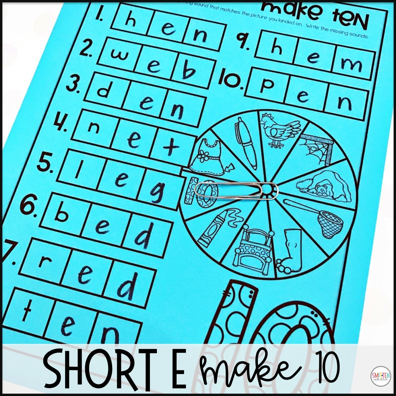 Short Vowel E Phonics Activities And Games 1st Grade In
