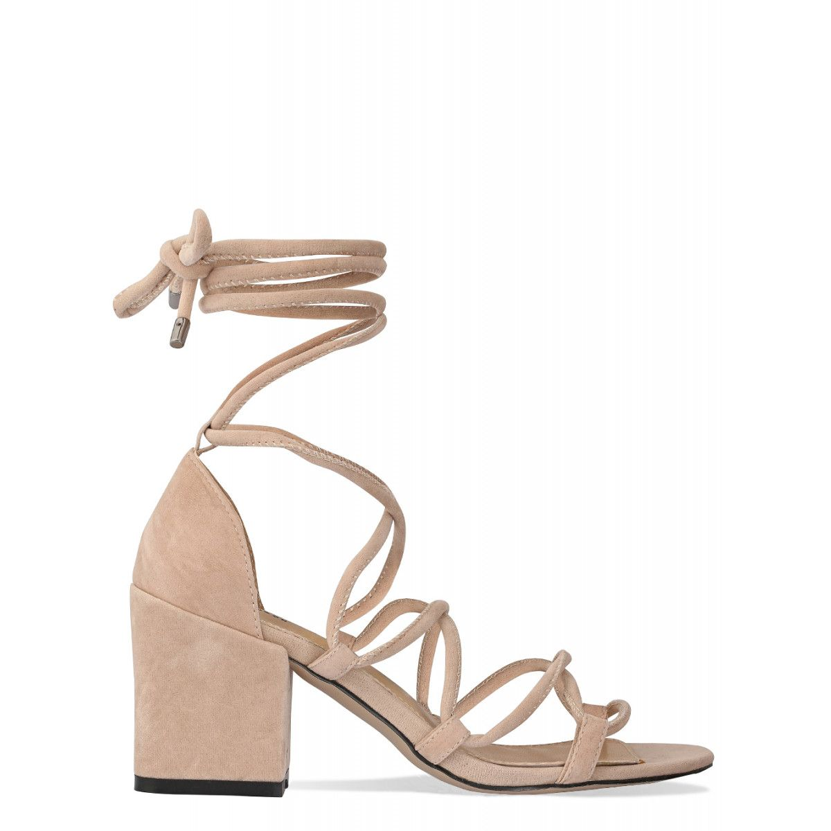 a41b068165b Kyra Nude Suede Lace Up Mid Block Heels | Pumps | Simmi shoes, Heels ...