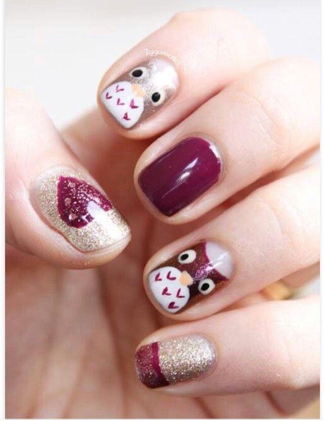 33 Earthy And Stylish Fall Nail Art Ideas #fallnails Please don\'t ...