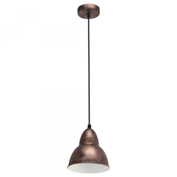 Click Licht vintage pendelleuchte truro mit industriellem touch aus stahl eglo
