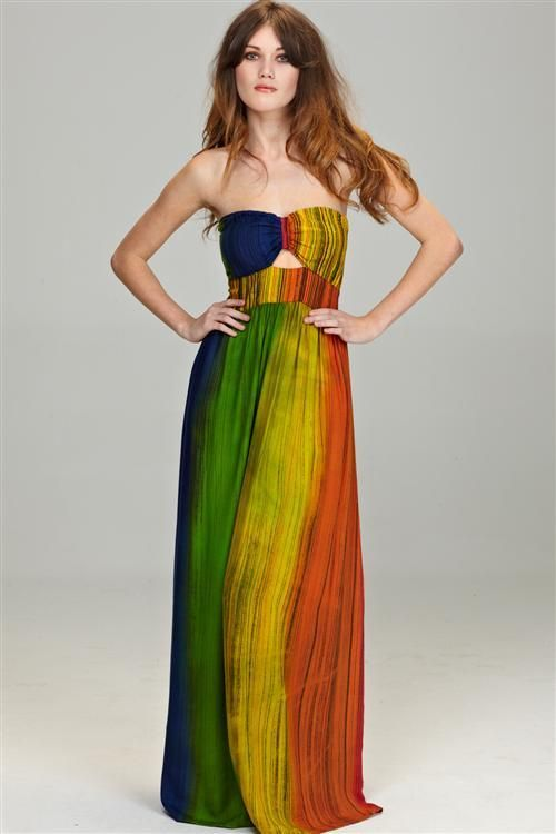 Zoe Brianne - Over the Rainbow Maxi Dress | The Fabulous Life ...