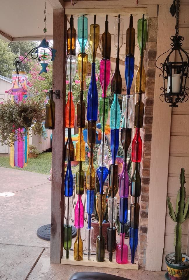 This lovely bottle wall was made by Annette Chandler Garner