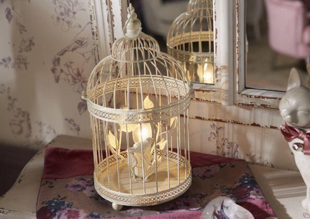 Lampe cage oiseaux Amadeus Décoration de charme pour intérieur Cosy ...
