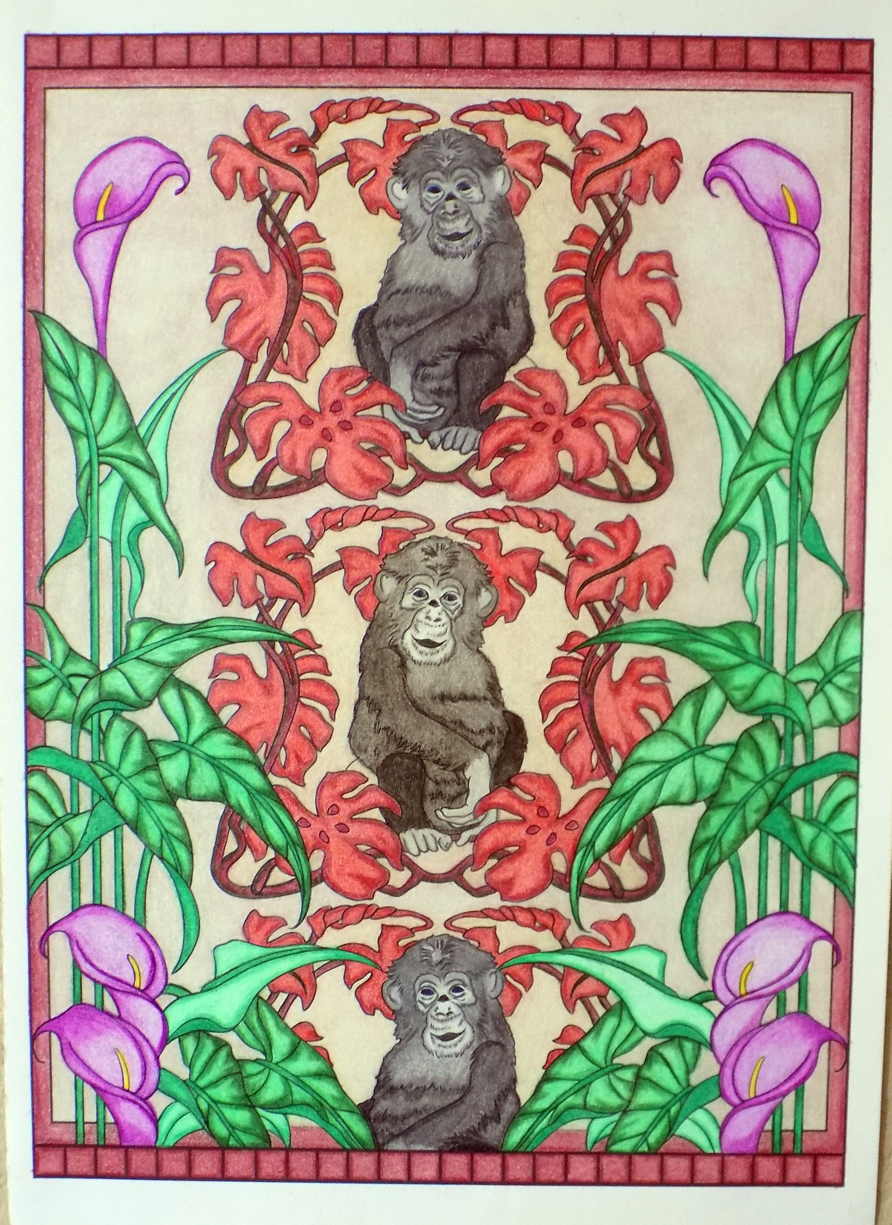 - Art Nouveau Animal Designs By Marty Noble Colored By Linda Swirski
