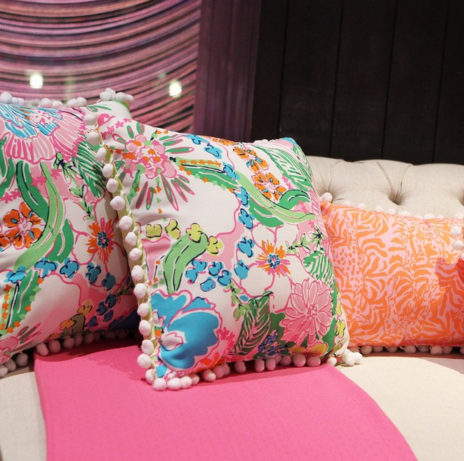 lilly pulitzer pillows The Prep in me Pinterest Pillows Dorm